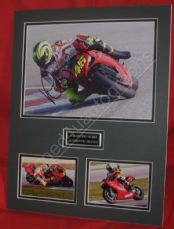 VALENTINO ROSSI SIGNED GP 10x8 Matted to overall 18x14